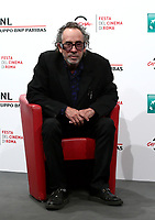 US director Tim Burton poses during a photo call prior to receiving a Lifetime Achievement Award, at the 16th edition of the Rome, on October 23, 2021.<br /> UPDATE IMAGES PRESS/Isabella Bonotto