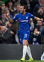 PEDRO of Chelsea celebrates his goal during the Premier League match between Chelsea and Crystal Palace at Stamford Bridge, London, England on 4 November 2018. Photo by Andy Rowland.<br /> .<br /> (Photograph May Only Be Used For Newspaper And/Or Magazine Editorial Purposes. www.football-dataco.com)