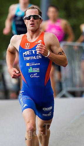 22 MAY 2011 - DUNKERQUE, FRA - Anthony Pannier (Metz Triathlon) - men's round of the 2011 French Grand Prix triathlon series .(PHOTO (C) NIGEL FARROW)
