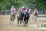 May 15, 2021 : Rombauer, #6, ridden by jockey Flavien Prat wins the Preakness Stakes on Preakness Stakes Day at Pimlico Race Track in Baltimore, Maryland on May 15, 2021. Wendy Wooley/Eclipse Sportswire/CSM