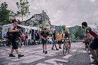 Giuseppe Fonzi (ITA/Wilier Triestina - Selle Italia) up the final climb to Pratonevoso<br /> <br /> stage 18: Abbiategrasso - Pratonevoso (196km)<br /> 101th Giro d'Italia 2018