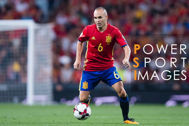 Andres Iniesta of Spain in action during their 2018 FIFA World Cup Russia Final Qualification Round 1 Group G match between Spain and Italy on 02 September 2017, at Santiago Bernabeu Stadium, in Madrid, Spain. Photo by Diego Gonzalez / Power Sport Images