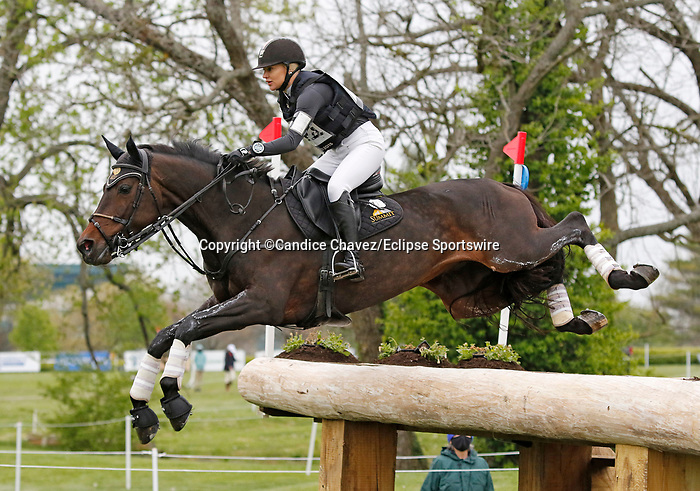 April 24, 2021: #25 RF Scandalous and rider Marilyn Little in the Cross Country test at the Land Rover Three Day Event at the Kentucky Horse Park in Lexington, KY on April 24, 2021.  Candice Chavez/ESW/CSM