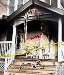 WATERBURY CT. - 09 January 2020-011121SV04-Fire inspectors investigate a fire that happened Sunday evening at 187 Wolcott Street in Waterbury Monday.<br /> Steven Valenti Republican-American