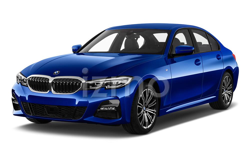 Front three quarter view of 2019 BMW 3-Series M-Sport 4 Door Sedan Angular Front