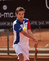 10-08-13, Netherlands, Rotterdam,  TV Victoria, Tennis, NJK 2013, National Junior Tennis Championships 2013,  Bas Muller<br /> <br /> Photo: Henk Koster