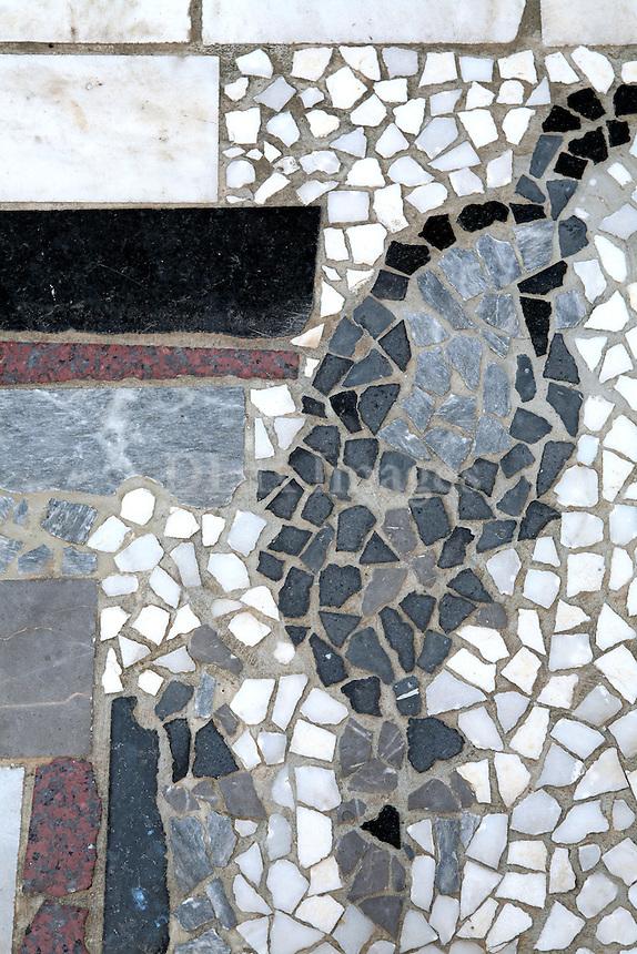 close up of mosaic tiles