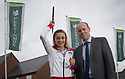 ***Free photo for editorial print and on-line use***<br /> <br /> 15/05/17<br /> <br /> UK Pentathlon athlete Niamh Emerson joins with Persimmon Homes regional managers, Liam Scott and Neil Follows, to mark the launch of the company's  'Healthy Communities' scheme, where they will donate £500 every month to local sports club to encourage kids to get into sport and as a way to give back to communities in which they build. Photographed at Persimmon Homes new development Buttercup Leys, at Boulton Moor<br /> Derby.<br /> <br /> <br /> <br /> <br /> All Rights Reserved: F Stop Press Ltd. +44(0)1773 550665  www.fstoppress.com.