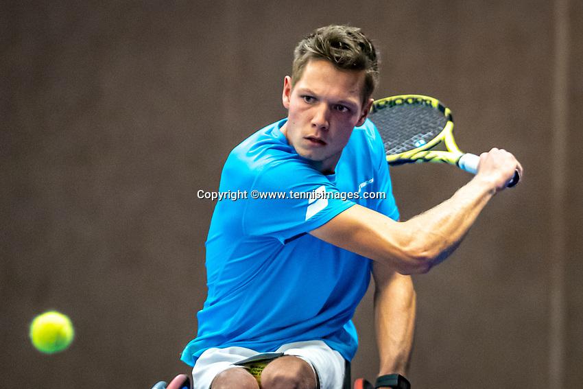 Alphen aan den Rijn, Netherlands, December 21, 2019, TV Nieuwe Sloot,  NK Tennis, Wheelchair, men's single,  Ruben Spaargaren (NED)<br /> Photo: www.tennisimages.com/Henk Koster