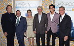 Jeff Daniels, Alan Poul,Olivia Munn,Sam Waterston,Dev Patel and Alan Sorkin<br />  an at The  Los Angeles Season 3 Premiere of HBO's series THE NEWSROOM held at The DGA in West Hollywood, California on November 04,2014                                                                               © 2014 Hollywood Press Agency