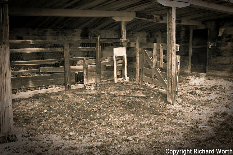 A shed built with railroad ties at the deserted former railroad town, now ghost town, Cobre, Nevada.