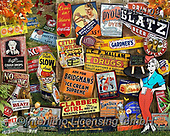 Lori, STILL LIFE STILLEBEN, NATURALEZA MORTA, paintings+++++Antique Signs Puzzle_4_72,USLS03,#I#, EVERYDAY ,puzzles ,collage