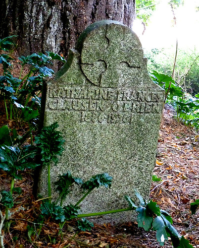 """A peaceful place"" – Kitty Clausen's headstone in St Just in Roseland, one of the last architectural design tasks undertaken by Conor O'Brien"