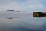Burnt Jacket Point in November with morning fog.