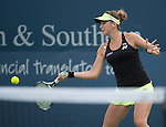 Belinda Bencic (SUI) beats Flavia Pannetta (ITA), 6-1, 6-4, at the Western and Southern Open in Mason, OH on August 19, 2015.