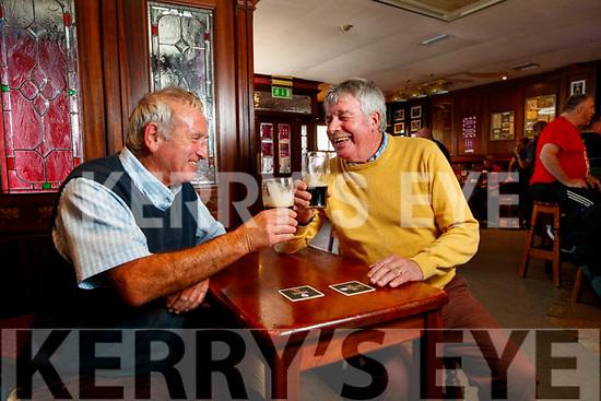 Mike Lenihan and Martin Bracker O'Regan in the Castle bar on Tuesday.