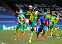 10/13th March 2021; Selhurst Park, London, England; English Premier League Football, Crystal Palace versus West Bromwich Albion; Mbaye Diagne of West Bromwich Albion clears the ball out into midfield from a Crystal Palace cross