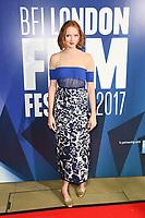 Lily Cole<br /> arriving for the 2017 London Film Festival Awards at Banqueting House, London<br /> <br /> <br /> ©Ash Knotek  D3336  14/10/2017