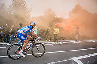 William Bonnet (FRA/FDJ) is one of the last riders up the Capo Berta (38 km's before the finish)<br /> <br /> 108th Milano - Sanremo 2017