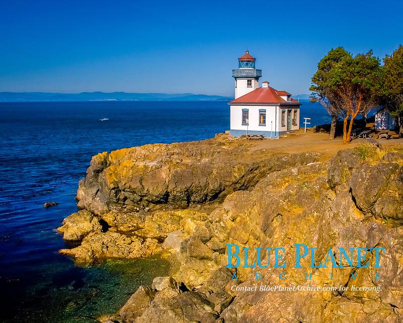 Lime Kiln Lighthouse, San Juan Islands, Washington, USA, Pacific Ocean