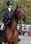 17 October 2010: Canadian Micheline Jordan and Irish Diamonds after Stadium Jumping at at the Fair Hill International in Fair Hill, Maryland