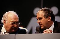Louis Laberge et Ed Broadbent au Congres du NPD, Mars 1987<br /> <br /> <br /> <br /> PHOTO : Agence Quebec Presse