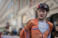 Daan Hoole (NED) post-finish<br /> <br /> Men Junior Road Race<br /> <br /> UCI 2017 Road World Championships - Bergen/Norway