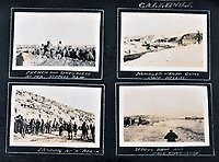 BNPS.co.uk (01202 558833)<br /> Pic: C&T/BNPS<br /> <br /> Around Gallipoli including landing on X beach.<br /> <br /> Never before seen photos of the disastrous Gallipoli campaign have come to light over a century later.<br /> <br /> The fascinating snaps were taken by Sub Lieutenant Gilbert Speight who served in the Royal Naval Air Service in World War One.<br /> <br /> They feature in his photo album which covers his eventful war, including a later stint in Egypt.<br /> <br /> There are dramatic photos of the Allies landing at X Beach, as well as sobering images of a mass funeral following the death of 17 Brits. Another harrowing image shows bodies lined up in a mass grave.<br /> <br /> The album, which also shows troops during rare moments of relaxation away from the heat of battle, has emerged for sale with C & T Auctions, of Ashford, Kent. It is expected to fetch £1,500.