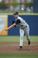 Columbia Fireflies starting pitcher A.J. Block (29) in action against the Kannapolis Cannon Ballers at Atrium Health Ballpark on May 18, 2021 in Kannapolis, North Carolina. (Brian Westerholt/Four Seam Images)