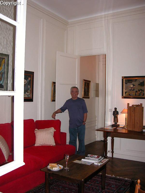 Guy in his Paris apartment near the corner of La Tour Maubourg and Rue St. Dominique.