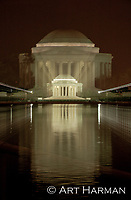 Jefferson Memorial at night, with my special techniques