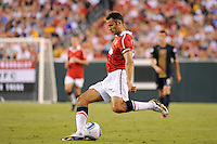 Ryan Giggs (11) of Manchester United. Manchester United (EPL) defeated the Philadelphia Union (MLS) 1-0 during an international friendly at Lincoln Financial Field in Philadelphia, PA, on July 21, 2010.