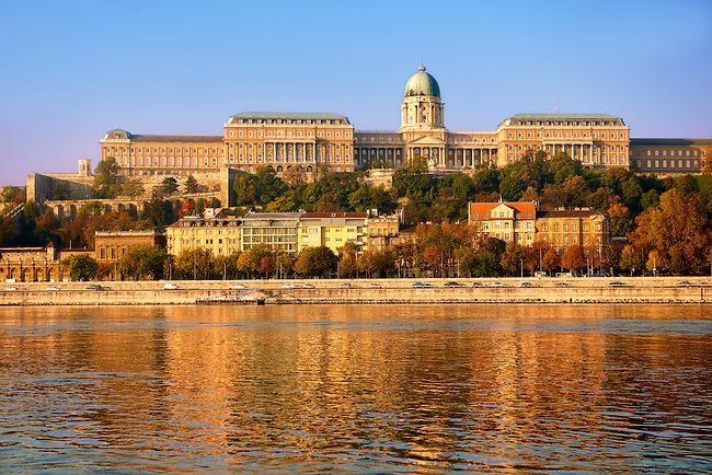 Buda Castle Hill with the Danube, Budapest, Hungary