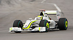 05 Apr 2009, Kuala Lumpur, Malaysia --- Brawn GP Formula One Team driver Jenson Button of Great Britain steers his car during the 2009 Fia Formula One Malasyan Grand Prix at the Sepang circuit near Kuala Lumpur. Photo by Victor Fraile --- Image by © Victor Fraile / The Power of Sport Images