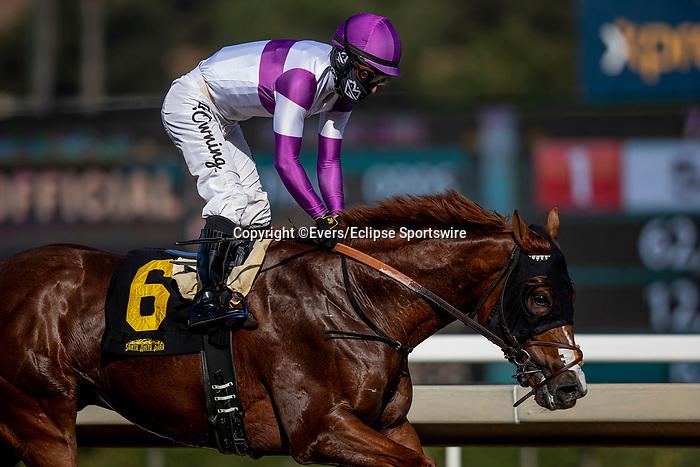 December 26, 2020: Wipe the Slate wins at Santa Anita Park in Arcadia, California on December 26, 2020. Evers/Eclipse Sportswire/CSM
