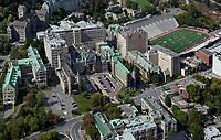 aerial photograph of McGil University, Montreal, Quebec, Canada | photographie aérienne de l'Université McGil, Montréal, Québec, Canada