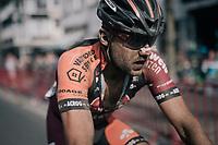 'dirty' face Rob Peeters (BEL/Pauwels sauzen - Vastgoedservice) after finishing<br /> <br /> 92nd Schaal Sels 2017 <br /> 1 Day Race: Merksem > Merksem (188km)