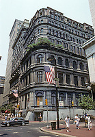 Philadelphia: Victory Building 1873-75. 1001 Chestnut St. Iron frames faced in granite. Photo '88.