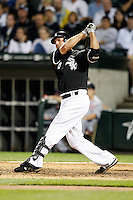 August 7, 2009:  First Baseman Paul Konerko (14) of the Chicago White Sox at bat during a game vs. the Cleveland Indians at U.S. Cellular Field in Chicago, IL.  The Indians defeated the White Sox 6-2.  Photo By Mike Janes/Four Seam Images