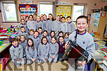 Gaelscoil Faithleann pupil Rian Ó Gliasain who played acordian on the Late Late Toy Show on Saturday night got a heroes return from his classmates