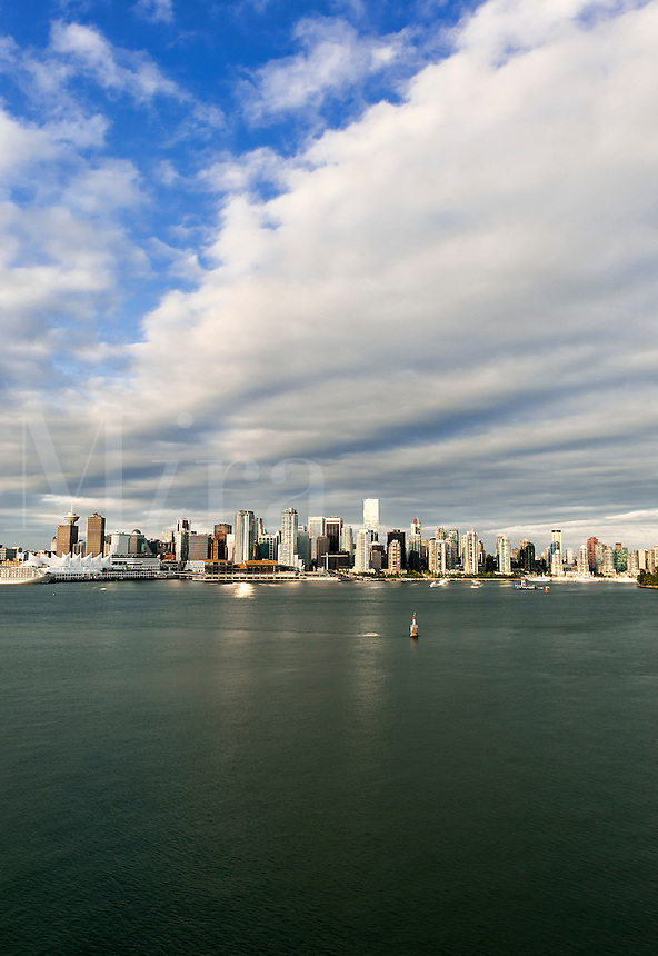 City skyline and waterfront, Vancouver, British Columbia, Canada