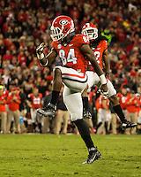 ATHENS, GEORGIA - October 17, 2015: The University of Georgia Bulldogs play the Missouri Tigers at Sanford Stadium.  Final score University of Georgia 9, Missouri 6.