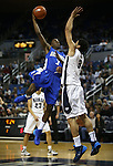 Air Force's Justin Hammonds shoots over Nevada defender AJ West during an NCAA basketball game in Reno, Nev., on Saturday, Feb. 1, 2014. (AP Photo/Cathleen Allison)