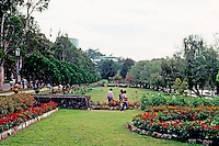 Philippines: Baguio--Burnham Park, manicured grounds. Photo '82.
