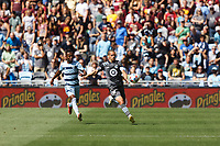 ST. PAUL, MN - AUGUST 21: Osvaldo Alonso #6 of Minnesota United FC and Gadi Kinda #17 of Sporting Kansas City chasing the ball during a game between Sporting Kansas City and Minnesota United FC at Allianz Field on August 21, 2021 in St. Paul, Minnesota.