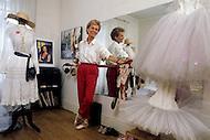 Paris, France, 1987. Margareta Haim, the mother of Mathilda May.