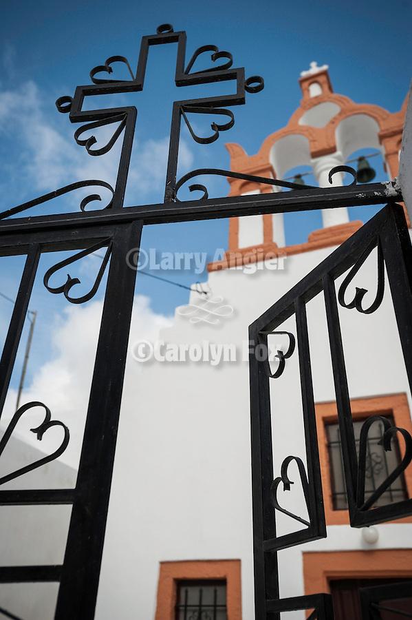 Orthodox church gate, Emporio, Greece