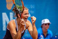 Amstelveen, Netherlands, 10 Juli, 2021, National Tennis Center, NTC, Amstelveen Womans Open, Singles final:  Quirine Lemoine (NED) celebrates her win over Mordiger (GER)<br /> Photo: Henk Koster/tennisimages.com