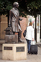 """23/10/19<br /> <br /> File photo dated 12/07/11 showing Thomas Cook statue outside Leicester railway station.<br /> <br /> Thomas Cook has collapsed after last-minute negotiations aimed at saving the 178-year-old holiday firm failed.<br /> <br /> The UK Civil Aviation Authority (CAA) said the tour operator had """"ceased trading with immediate effect"""".<br /> <br /> It has also triggered the biggest ever peacetime repatriation, aimed at bringing more than 150,000 British holidaymakers home.<br /> <br /> <br /> <br /> All Rights Reserved, F Stop Press Ltd +44 (0)7765 242650 www.fstoppress.com rod@fstoppress.com"""
