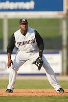 Kannapolis first baseman Brandon Allen (36) on defense versus Columbus at Fieldcrest Cannon Stadium in Kannapolis, NC, Sunday, July 22, 2007.